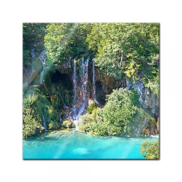 Glasbild - Plitvicer Seen I - Kroatien