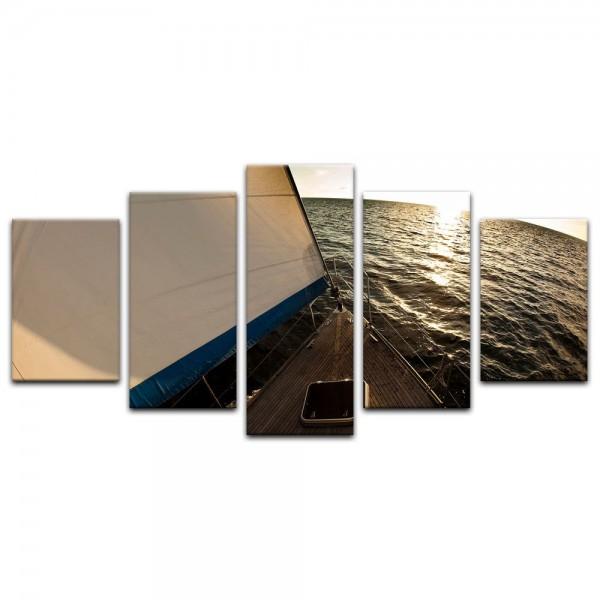 Leinwandbild - Yacht auf See VI