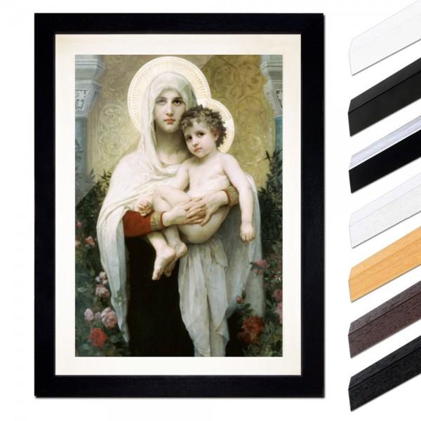 William-Adolphe Bouguereau - Madonna vor Rosen