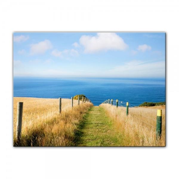 Leinwandbild - Schöner Weg zum Strand II