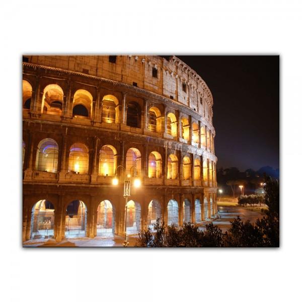 Leinwandbild - Kolosseum bei Nacht