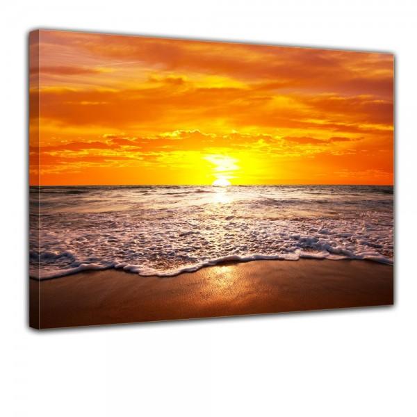 SALE Leinwandbild - Strand Sonnenuntergang I - 80x60 cm