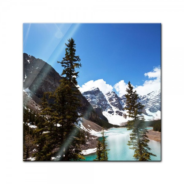 Glasbild - Bergsee in Alberta - Kanada