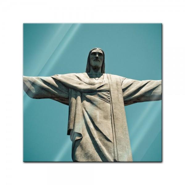 Glasbild - Jesus Christus der Erlöser - Rio De Janeiro Brasilien