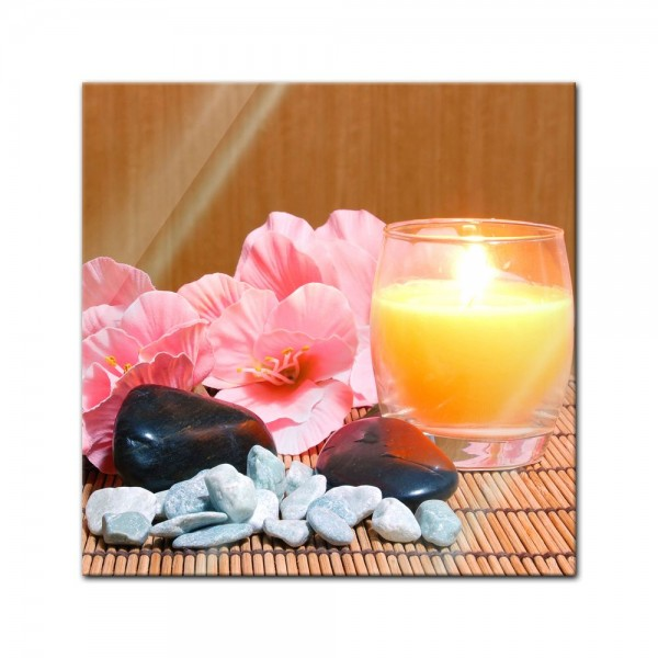 Glasbild - Zen Steine XIX