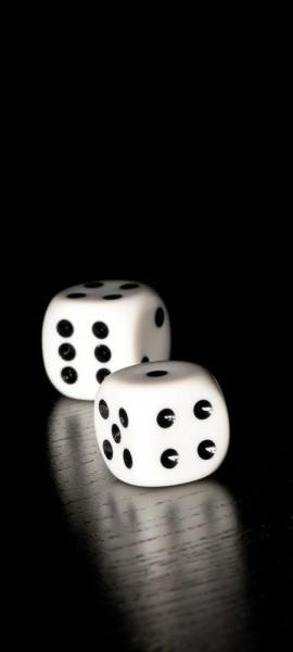 Türtapete selbstklebend Würfel 90 x 200 cm schwarz weiss Zahl Punkte Spiel Glücksspiel