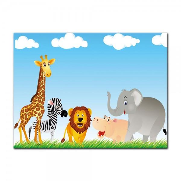 Leinwandbild - Kinderbild - Tiere Cartoon VI