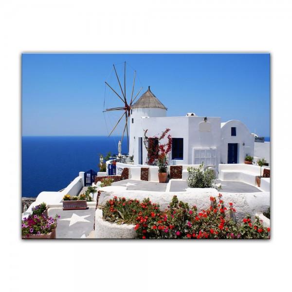 Leinwandbild - Griechische Mühle