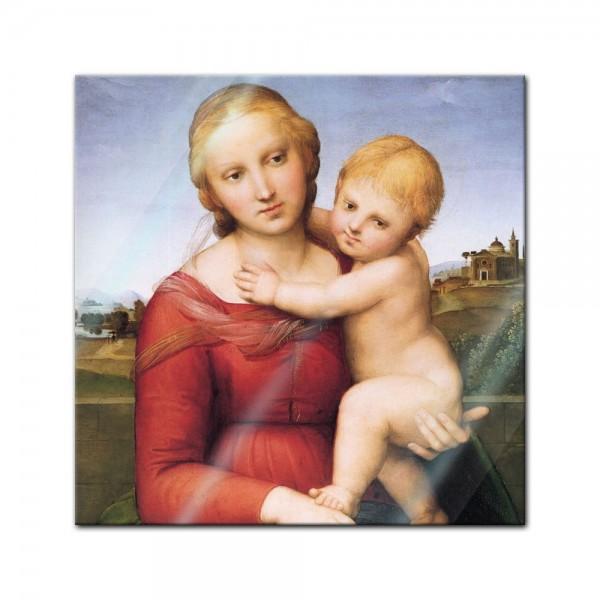 Glasbild Raffael - Alte Meister - Madonna mit Kind