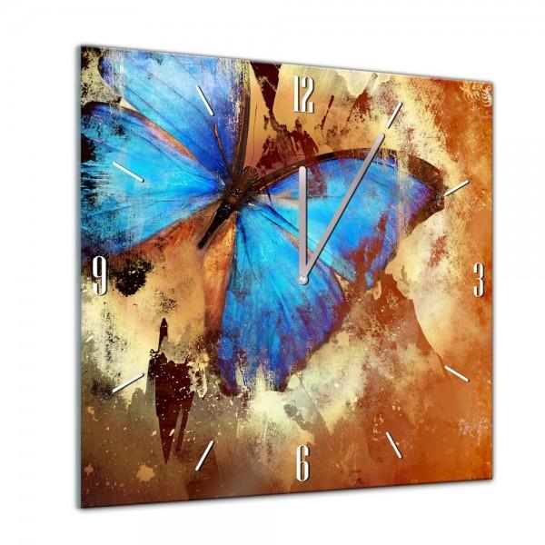 Glasuhr - Tiere - Schmetterling - 40x40cm
