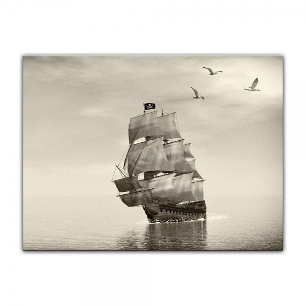 Leinwandbild - Piratenschiff