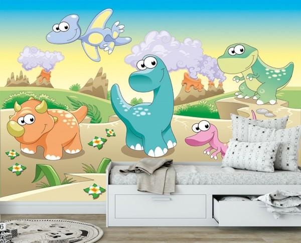 selbstklebende Fototapete - Kinderbild - Dinosaurierjungen