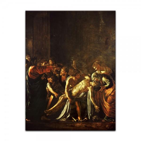 Leinwandbild - Caravaggio - Auferweckung des Lazarus