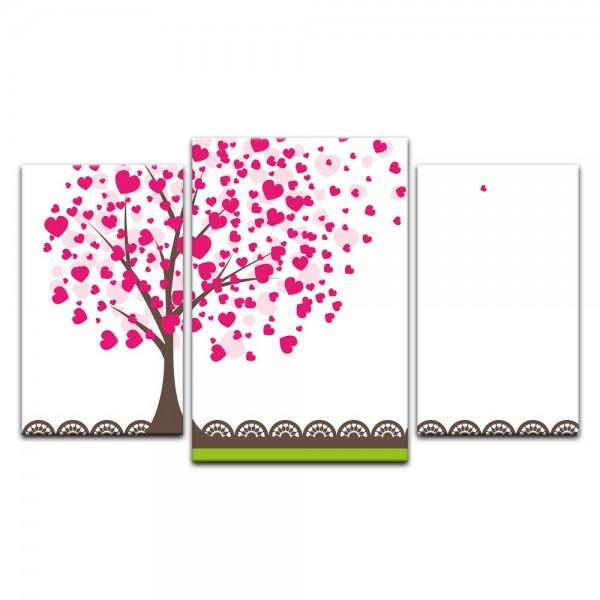 Leinwandbild - Kinderbild - Baum aus Herzen II - Herzbaum