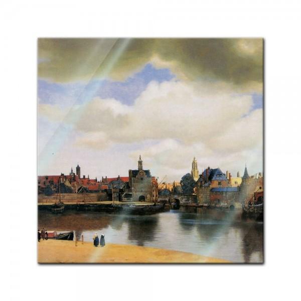 Glasbild Jan Vermeer - Alte Meister - Ansicht von Delft