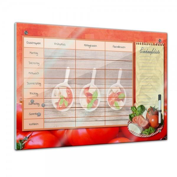 Memoboard - Familien Essensplaner - Tomate und Mozarella - quer