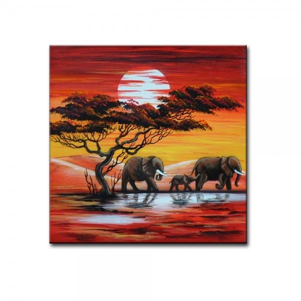 Wandbild - Elefanten M1 Leinwandbild - M21