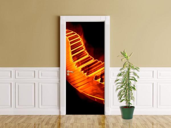Türaufkleber - Keyboard on fire