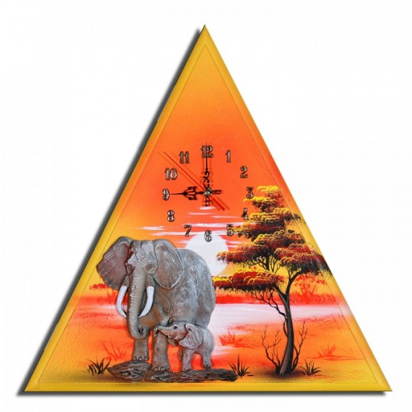 Wanduhr Elefanten F 19