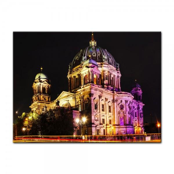 Leinwandbild - Berliner Dom - Festival of Lights