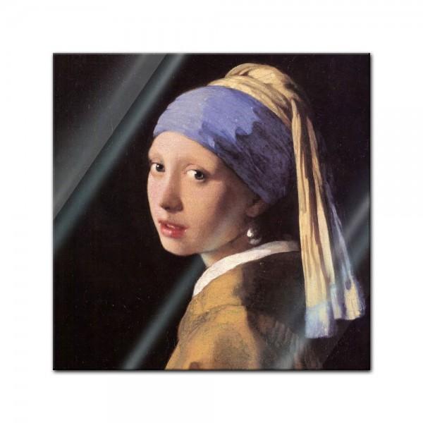 Glasbild Jan Vermeer - Alte Meister - Das Mädchen mit dem Perlenohrgehänge