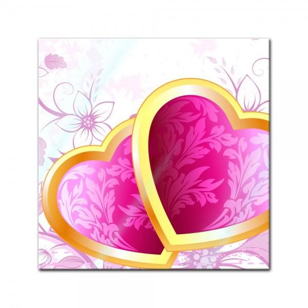 Glasbild - Valentinsherzen