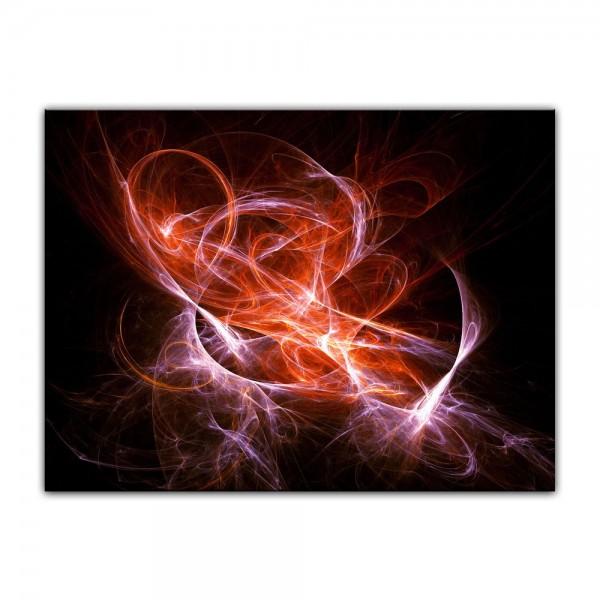 Leinwandbild - Abstrakt lila rot