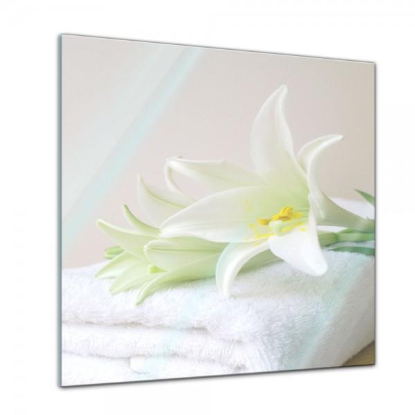 Glasbild - Lilie Spa - 50x50 cm