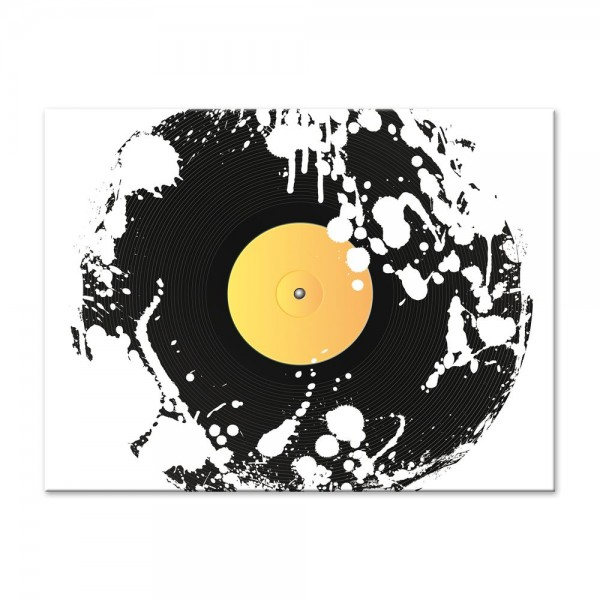 Leinwandbild - Grunge Schallplatte