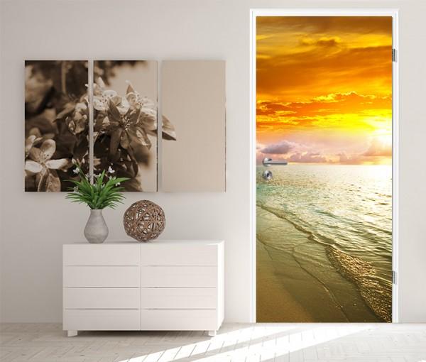Türaufkleber Sonnenuntergang am Strand I