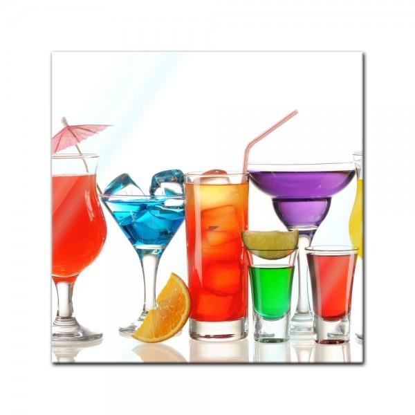 Glasbild - Cocktails III