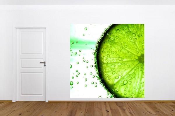 Fototapete - Limonenscheibe Wasser
