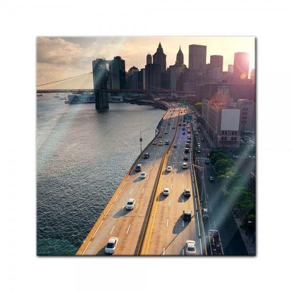 Glasbild - New York City