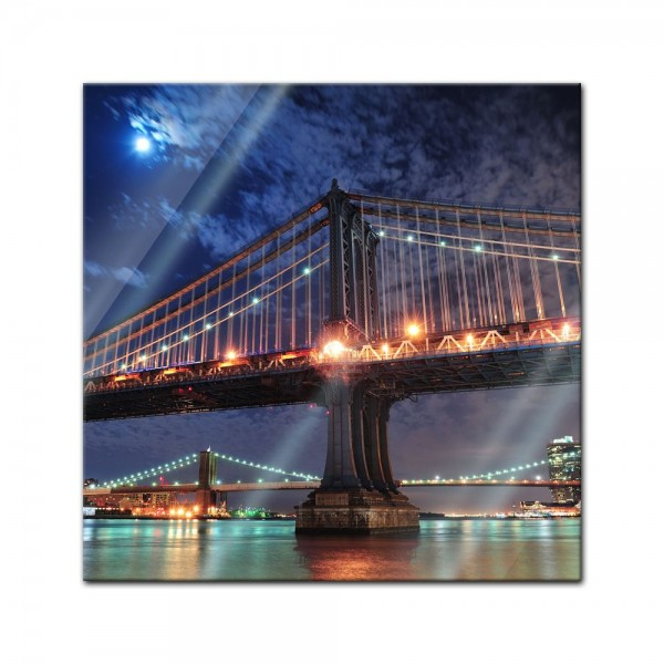 Glasbild - New York City Bridge