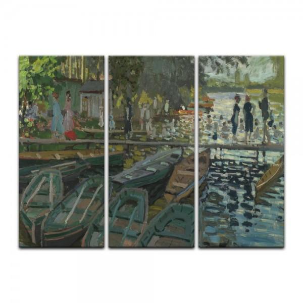 Leinwandbild - Claude Monet - Badende in La Grenouillère