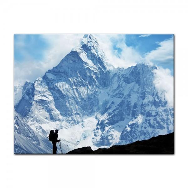 Leinwandbild - Klettern im Himalaya