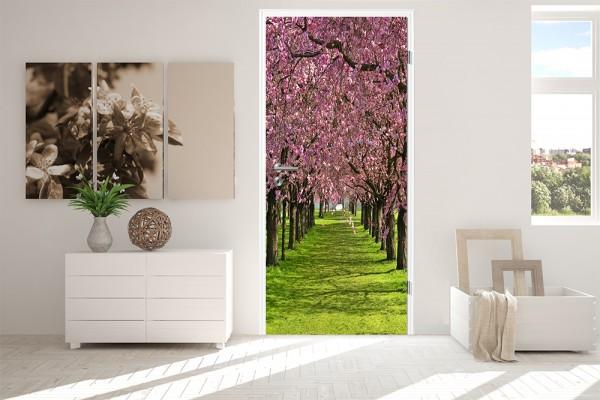 Türaufkleber - Kirschblütenbaum