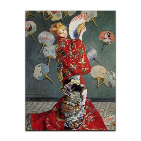 Leinwandbild - Claude Monet - La Japonaise (Camille im japanischen Kostüm)