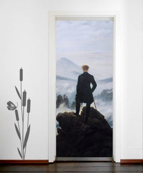 Türaufkleber Caspar David Friedrich - Alte Meister - Der Wanderer über dem Nebelmeer