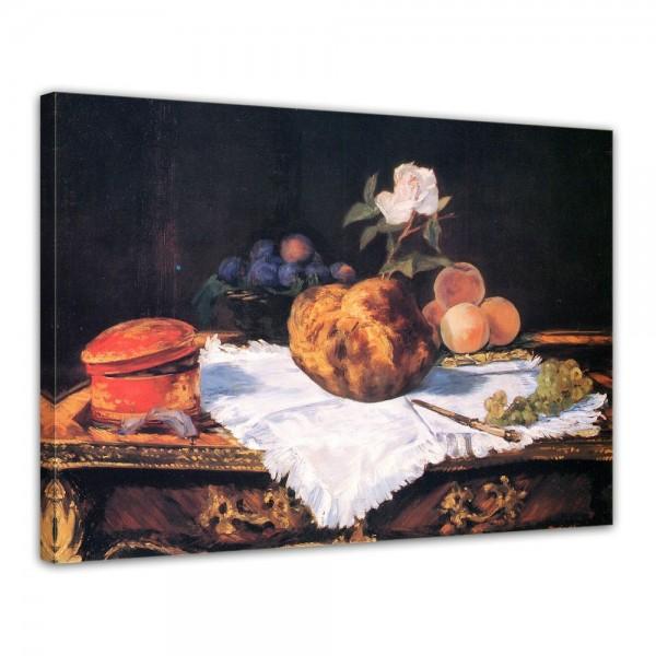SALE Leinwandbild - Édouard Manet Stillleben mit Brioche - 40x30 cm
