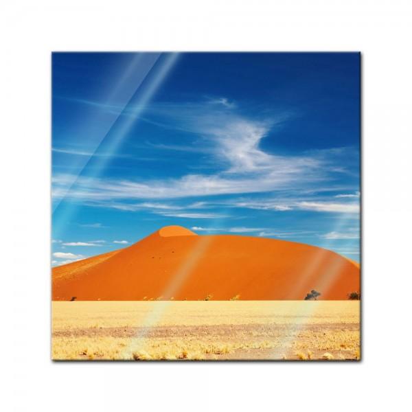 Glasbild - Wüste in Namibia