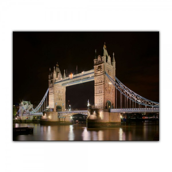 Leinwandbild - London Tower Bridge bei Nacht