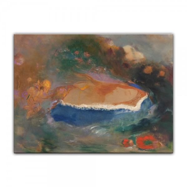 Leinwandbild - Odilon Redon - Das blaue Cap (Ophelia)
