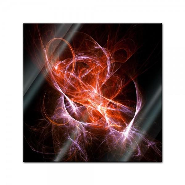 Glasbild - Abstrakt lila rot