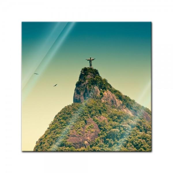 Glasbild - Corcovado Rio De Janeiro - Brasilien