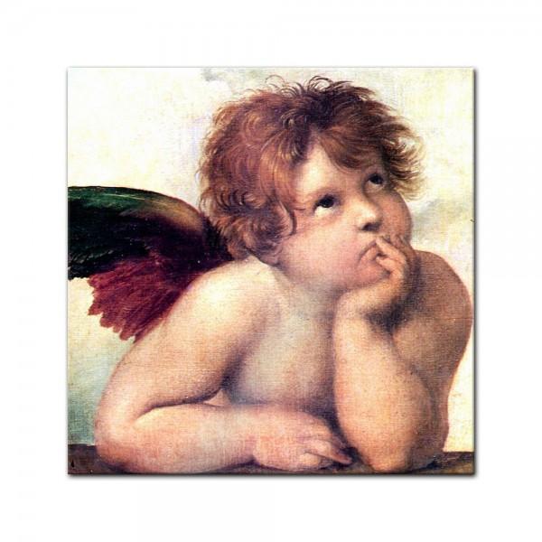 Glasbild Raffael - Alte Meister - Engel I - Detail Sixtinische Madonna