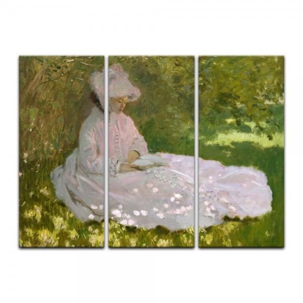 Leinwandbild - Claude Monet - Die Lesende