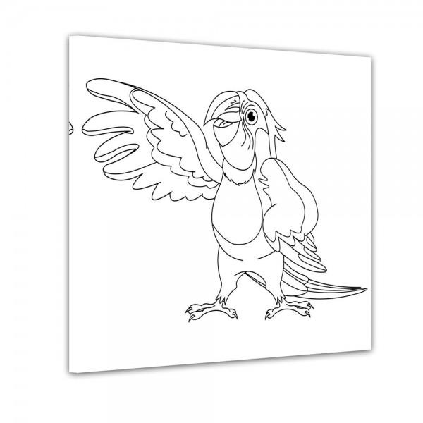 Papagei - Ausmalbild