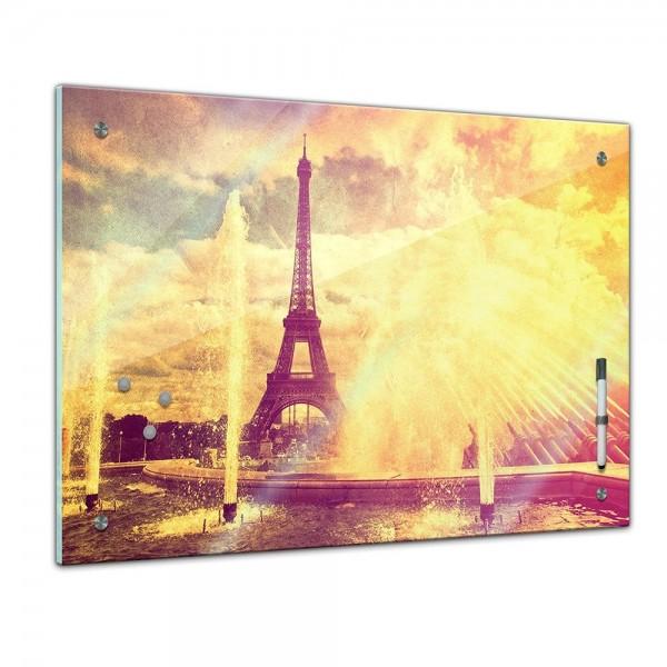 Memoboard - Paris Eiffelturm Retro