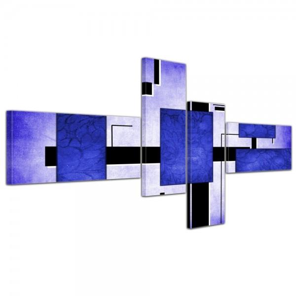 Abstrakte Kunst Abstrakt IV - 140x65cm 4 teilig